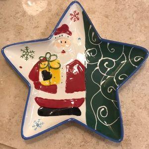 Santa Star plate